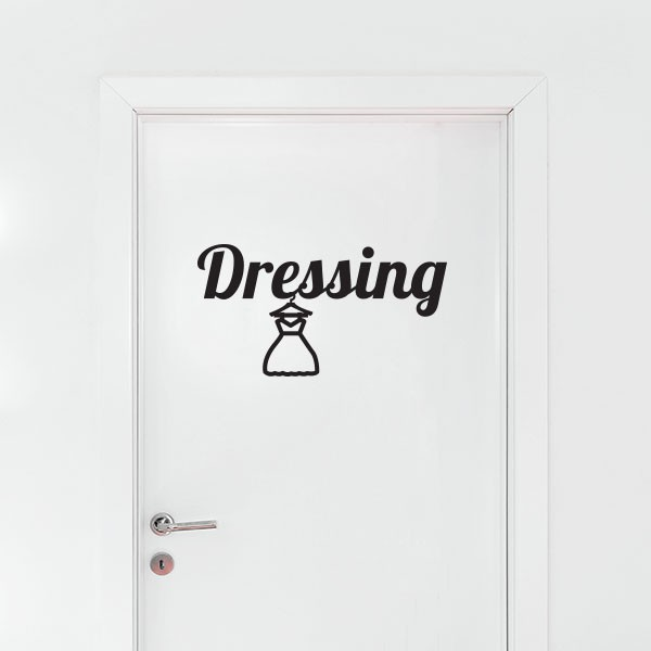 Stickers dressing stickmywall for Stickers porte dressing