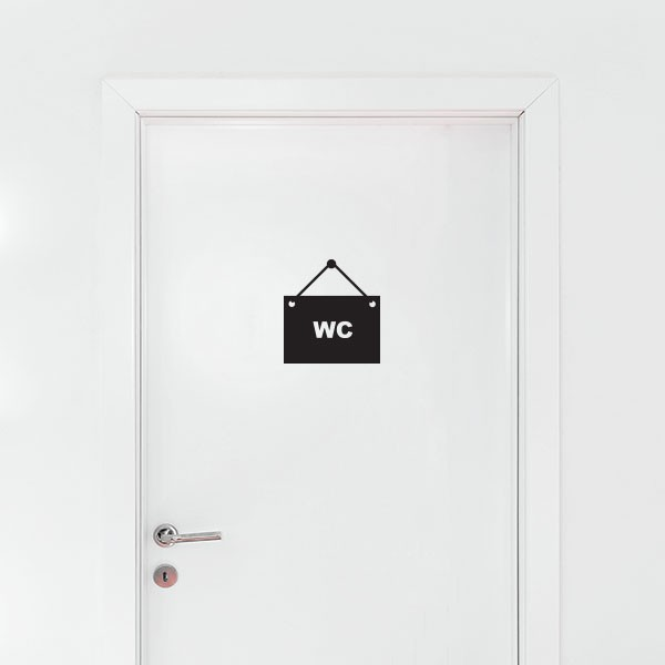 Stickers panneau wc stickmywall for Stickers wc porte