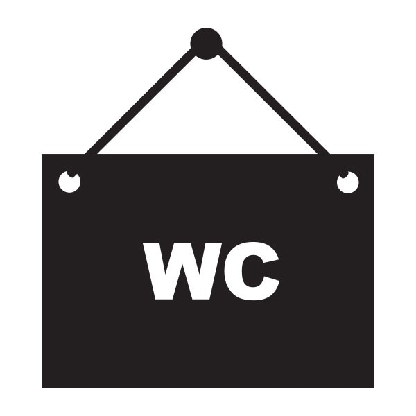 Stickers panneau wc stickmywall - Stickers porte wc ...