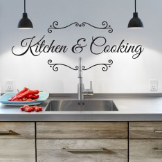 Sticker Kitchen and cooking