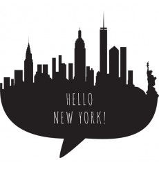 Sticker Hello New York