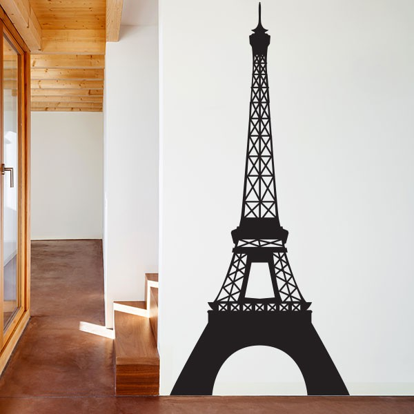 stickers tour eiffel stickmywall. Black Bedroom Furniture Sets. Home Design Ideas