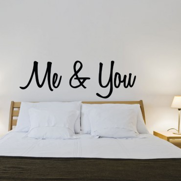 Stickers t te de lit me and you stickmywall - Tete de lit personnalisee ...