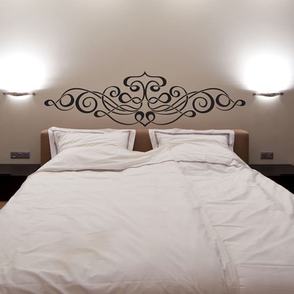 stickers t te de lit calligraphie stickmywall. Black Bedroom Furniture Sets. Home Design Ideas