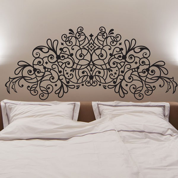 stickers t te de lit fer forg stickmywall. Black Bedroom Furniture Sets. Home Design Ideas