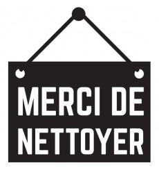 Sticker Merci de nettoyer