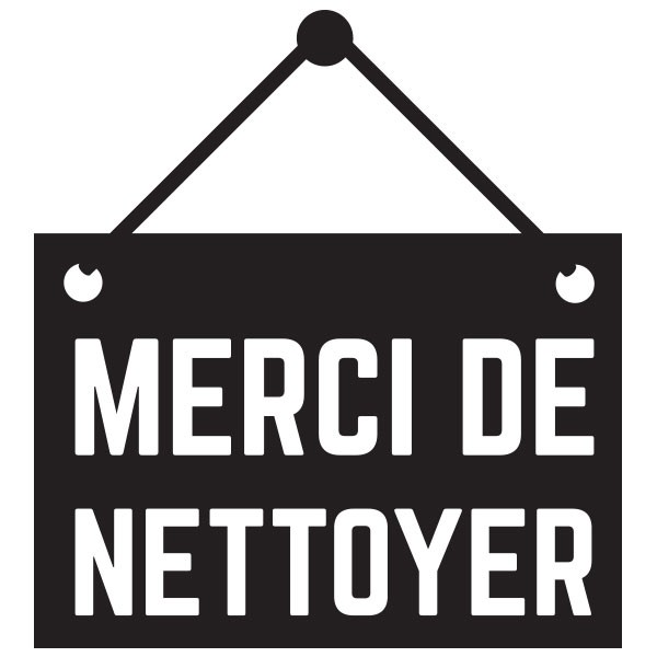 good sticker merci de nettoyer sticker merci de nettoyer with panneau toilette humour. Black Bedroom Furniture Sets. Home Design Ideas