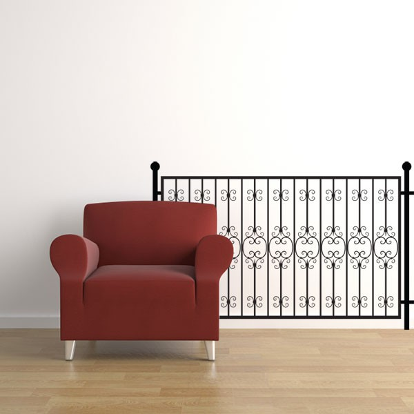 Stickers rambarde prestige fer forg stickmywall for Rambarde fer forge